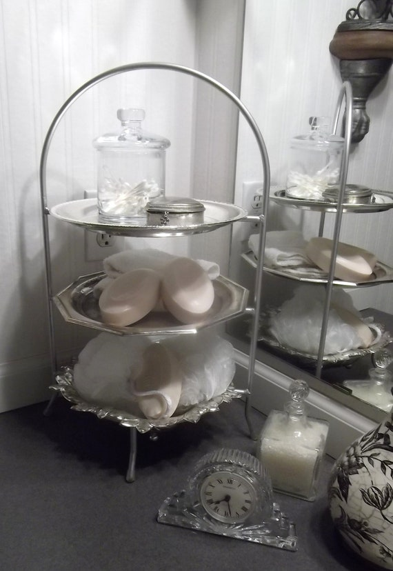 3 Tier Silver Plate Server or display