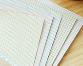 Sweet Mix Stripe Reform Fabric Sticker (A4)