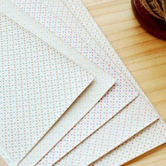 Sweet Mix Polka Dot Reform Fabric Sticker (A4)