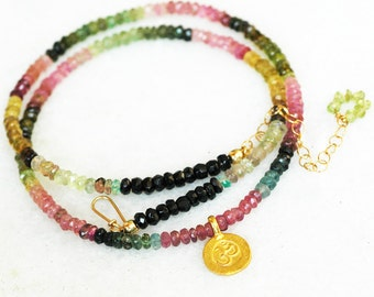Four Season Classics - Add Layers with AAA Tourmaline Necklace this Summer, OOAK
