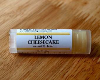 Lemon Cheesecake Lip Balm Oval Tube sweet bakery cake citrus