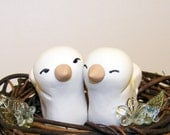 Custom Wedding Cake Topper Birds in Nest - Colors of Choice