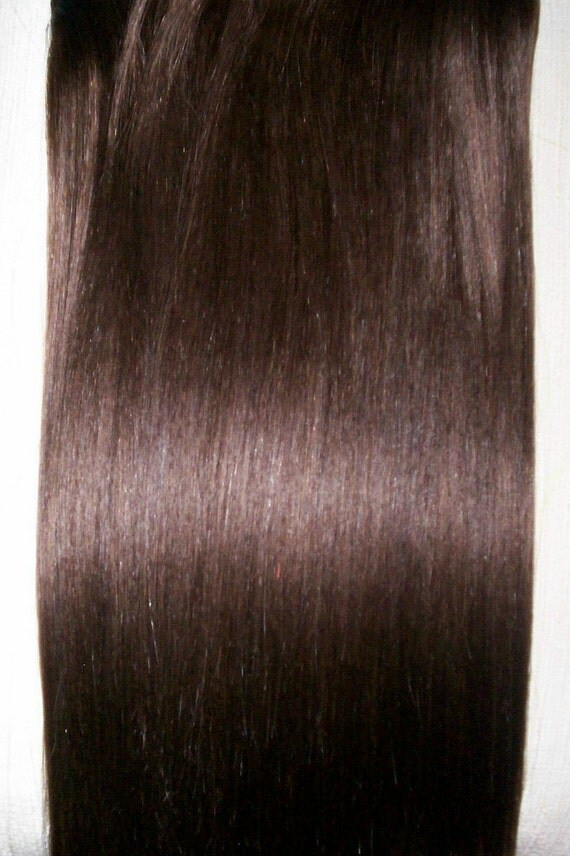 9 PIECE Clip on in Human Hair Extensions  17 inch  NO.4 Medium Brown. More shades available