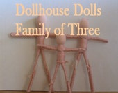Custom Dollhouse Dolls - Family of Three