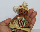 Kwanzaa Holiday Mini Doll with FREE Kwanzaa Holiday Stocking