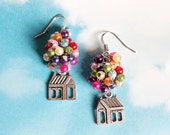 Flying House Earrings