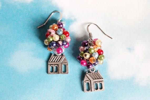 Flying House Earrings