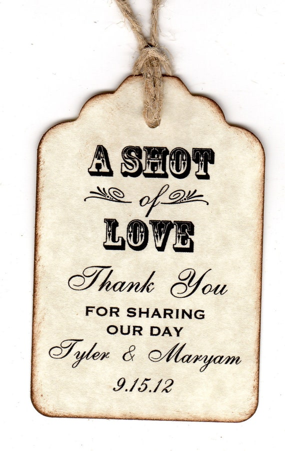 Monogram Tags For Wedding Favors Elite Design Personalized Acrylic