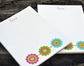 Personalized Notepads / Personalized Flower Notepads / Personalized Notebook / Personalized Flower Note Pads/ Set of Notepads /  Set of 2