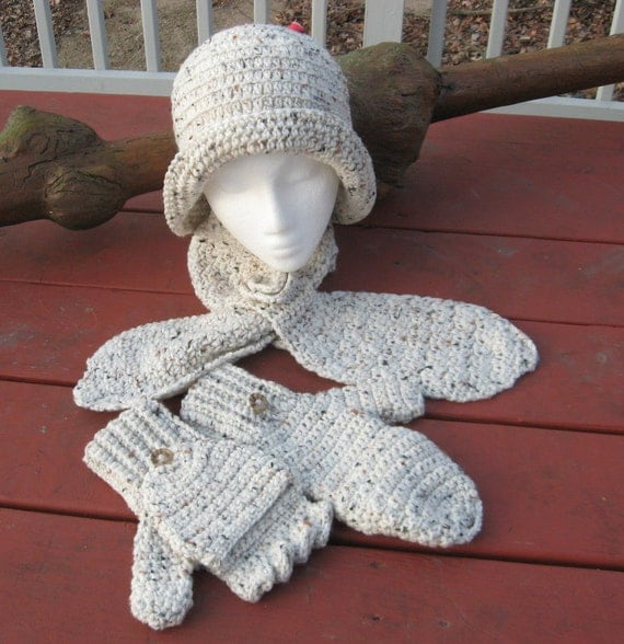 s hat ascot scarf and convertible mittens set