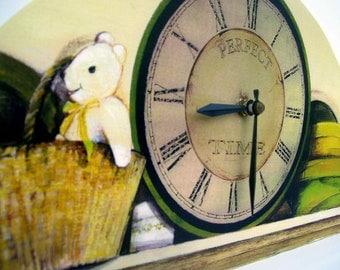 Teddy Bear with clock