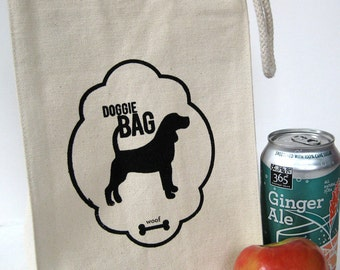 Lunch Bag - Recycled Cotton, Reusable - doggie bag