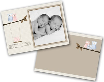 INSTANT DOWNLOAD - Birth announcement photo card template, 5x7 card - 0319