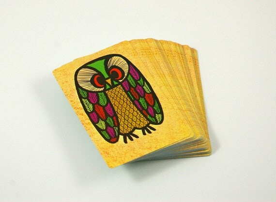 Vintage Owl Stardust Playing Cards - New Old Stock