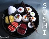 Sushi Amigurumi Crochet Pattern