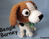 Beagle Barney Amigurumi Crochet Pattern