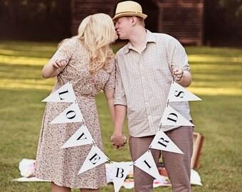 Love Birds Banner: Triangle