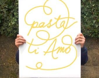 "Pasta poster print 20""x27"" - archival fine art giclée print"