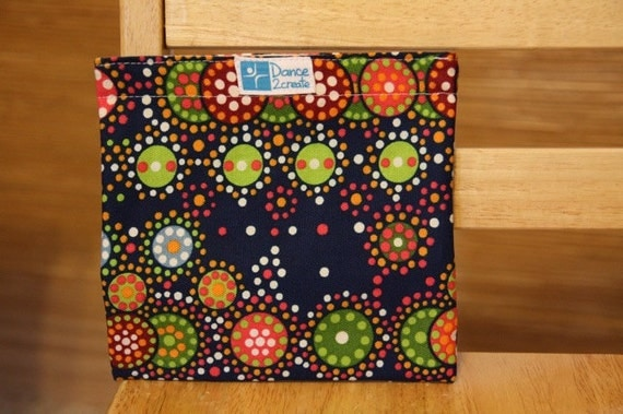Reusable Sandwich Bag - Dots on Navy