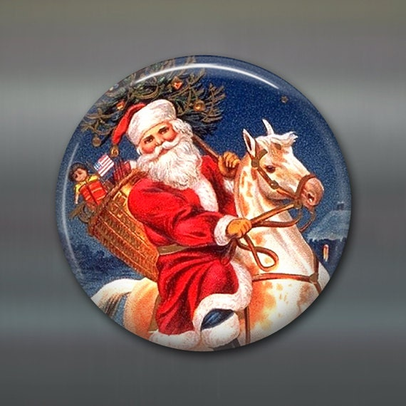 Victorian Father Christmas Decorations: Christmas Magnet Victorian Santa Decor Christmas Decoration