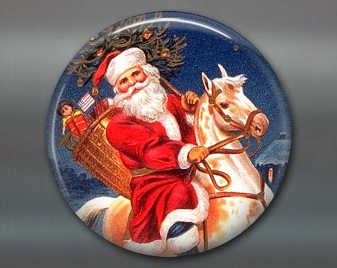 Christmas magnet, victorian santa decor, christmas decoration, kitchen decor, large magnet, oversize magnet  MA-1321