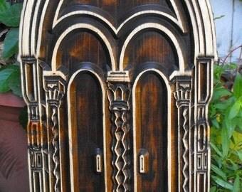 Window Frame,Door, Gothic , Wood , Window. Fairy Door,