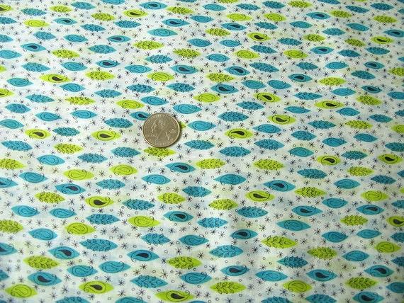 Vintage Print Fabric Cotton Voile