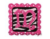 Scalloped Square Patch Applique Design Machine Embroidery Design INSTANT DOWNLOAD