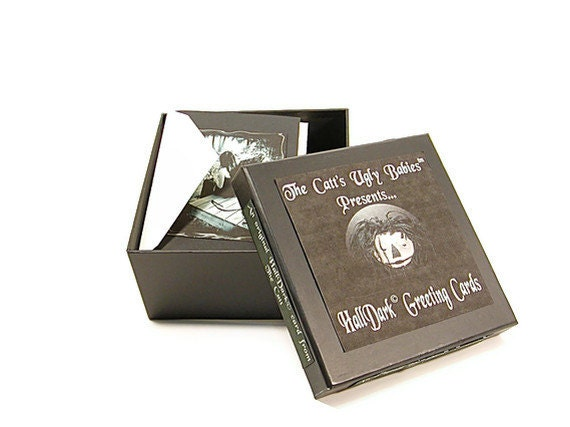 Gothic Cards, All Occasion Cards, Gothic Greeting Cards, Blank Cards, Blank Note Cards, Greeting Cards, Halloween Cards, Gothic, Black