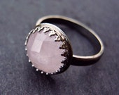Rose Quartz Ring in Sterling Silver