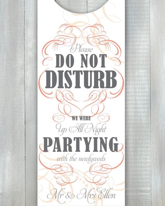 Swirl Party Door Hanger PDF