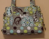 Quilted Bag Handbag Quilted Purse Tote Bag  Bow  Style Custom Made For You