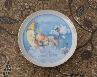 Lasting Moments Collectible Porcelain Plate. World's Cutest Baby - Sweet