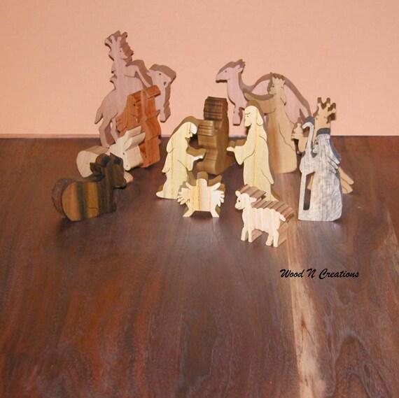Nativity Scene Holiday Nativity Set Home Decor By