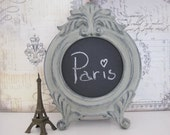 Shabby Chic Chalkboard Frame Paris Chalkboard Baroque Chalkboard Paris  Decor French Grey Chalkboard Frame Baby's Nursery Welcome Sign Gift
