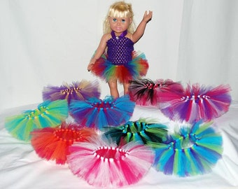 Party Pack of 5 Create Your Own Doll Tutus - Fits American Girl Dolls, My Generation Dolls, and Baby Dolls