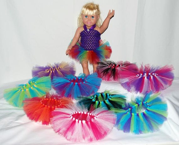 Party Pack Of 5 Create Your Own Doll Tutus By Kenziestreasures
