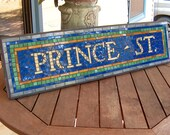 New York City Subway Mosaic Sign / Plaque - Prince St. Replica  - NYC