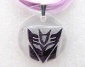 Purple Lace Decepticon Necklace