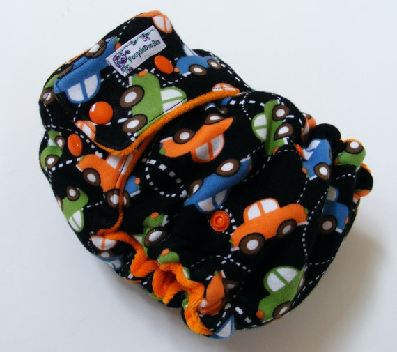 One Size Fitted Cloth Diaper Cars