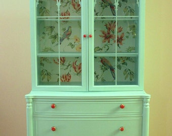 Mint Green Vintage  China Cabinet hold for Magdalena