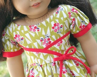 1950's Flair Dress For American Girl Or Similar 18-Inch Dolls