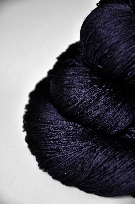 Black Mage OOAK - Silk Yarn Lace weight