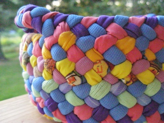Colorful Cotton Braided Basket