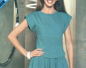 See and Sew 5177 Top and Tiered Skirt Vintage Sewing Pattern Bust 30.5 -40 Inches Uncut