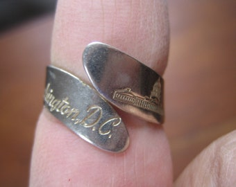 Ring, Washington DC, souvenir,60s,vintage jewelry, rings, DC souvenir