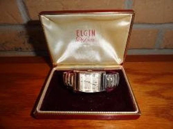 Vintage Mens Elgin Deluxe 10kt. Gf Bezel Wind Up Dress Wrist Watch