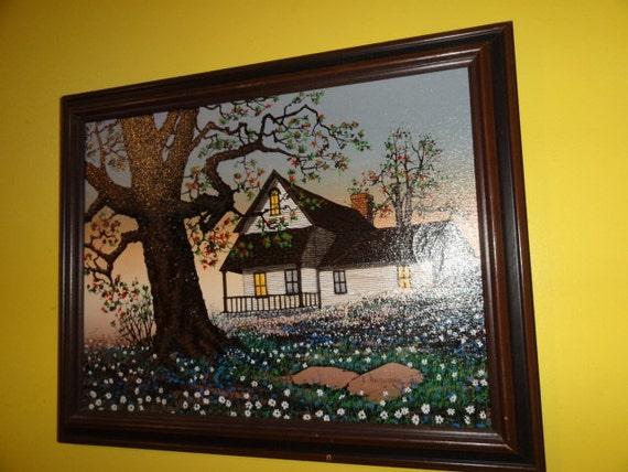 "Contemporary H. Hargrove Canvas Original Oil Painting Art  ""Farm House Summer"""