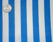 De-stash-- White and blue stripe quilting cotton