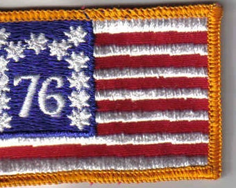 76 American Flag  - Vintage Sewing Patch Applique 1970's